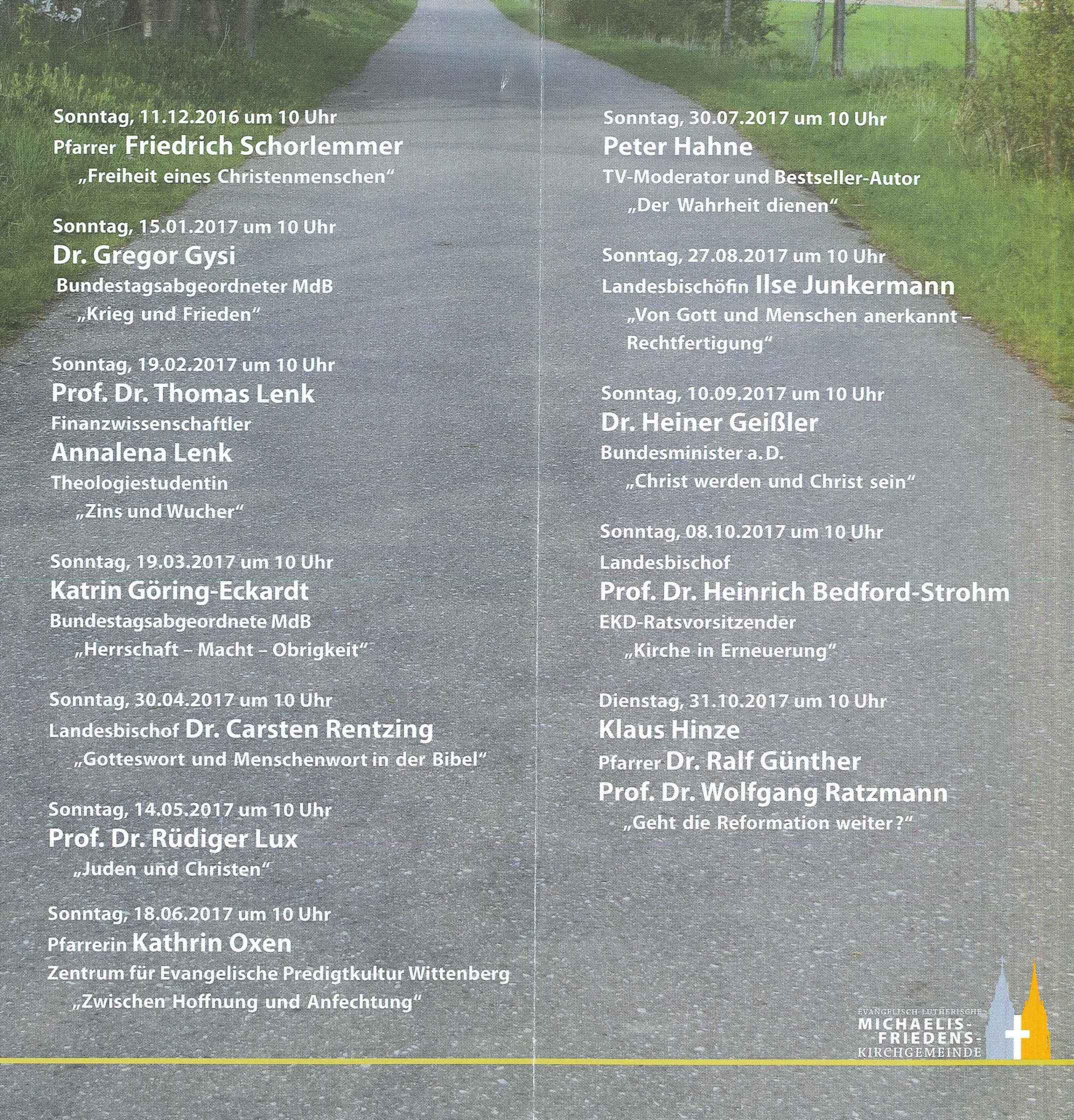 Gottesdienst mit Kanzelrede – Homepage der Michaelis-Friedens ...