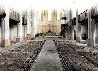 Erneuerung Fußboden Friedenskirche