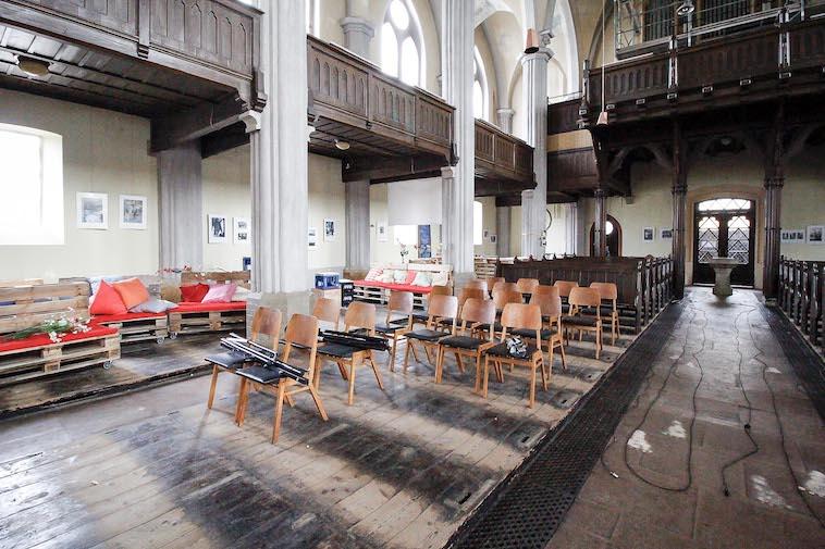 Erneuerung Fußboden Friedenskirche - vor Sanierung