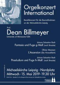 Dean Billmeyer, Orgelkonzert