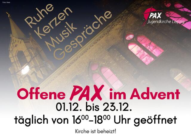 Offene Friedenskirche PAX im Advent